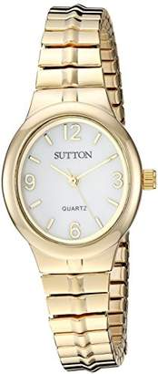 Sutton by Armitron Women's SU/1014MPGP -Tone Expansion Band Watch