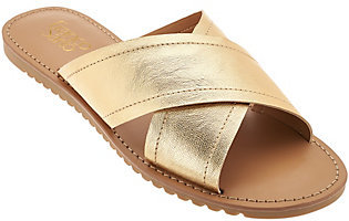 Franco Sarto Cross Strap Slide Sandals - Quentin $35.40 thestylecure.com