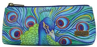 Anuschka Women's Genuine Leather Cosmetic Case | Hand Painted Original Artwork |