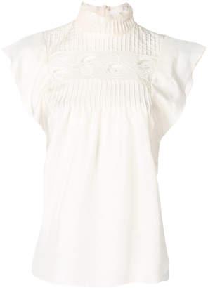 Chloé broderie anglaise sleeveless blouse
