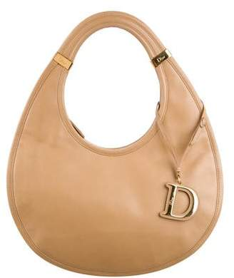 Christian Dior Flat Leather Hobo