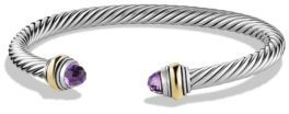David Yurman Cable Classic Bracelet with Amethyst and Gold $625 thestylecure.com