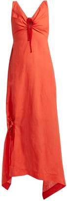 Preen by Thornton Bregazzi Felicity drawstring-detailed linen dress