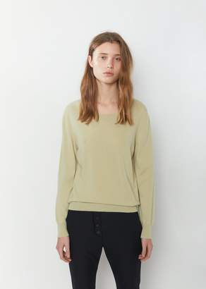 Margaret Howell Long Sleeve Cashmere Crewneck Soapstone