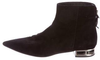 Miu MiuMiu Miu Suede Pointed-Toe Ankle Boots