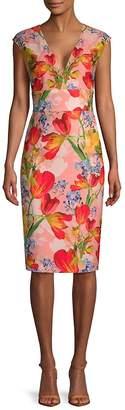 Kay Unger Women's Floral Sleeveless Dress