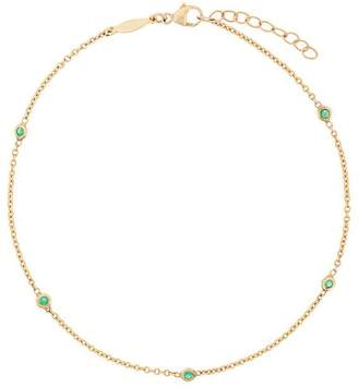 Jacquie Aiche five emerald spaced out anklet