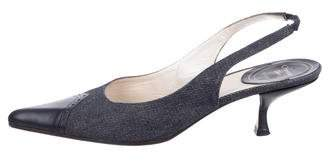Christian Dior Denim Slingback Pumps