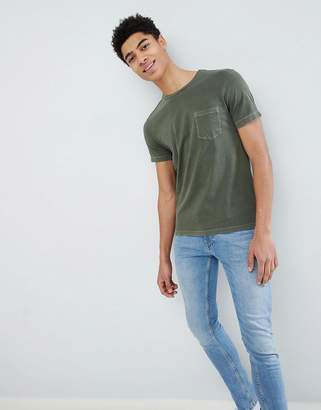 Benetton Crew Neck T-Shirt In Khaki