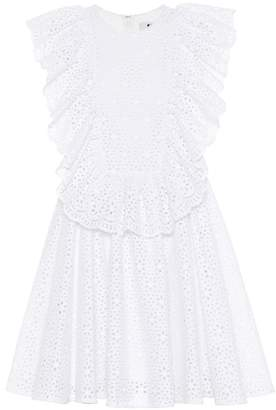 MSGM Cotton eyelet lace minidress