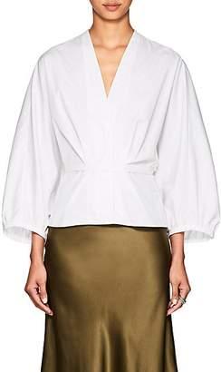 Narciso Rodriguez Women's Puff-Sleeve Cotton Poplin Blouse - White