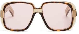 Gucci - Square Frame Acetate Sunglasses - Mens - Brown
