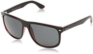 Ray-Ban RB4147 - Black on Red Frame Dark Grey Lenses 60mm Non-Polarized
