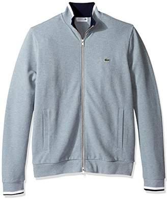 Lacoste Men's Full Zip Pique Fleece Sweatshirt