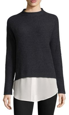Design History Layered Cashmere Sweater $220 thestylecure.com
