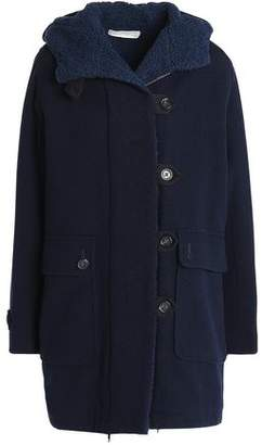 Vanessa Bruno Athe' Double-breasted Wool-blend Hooded Coat