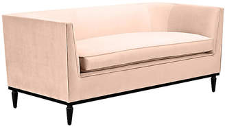 Kate Spade Monroe Loveseat - Powder Blush Velvet