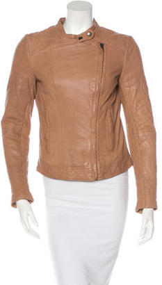 Muubaa Asymmetrical Leather Jacket $175 thestylecure.com