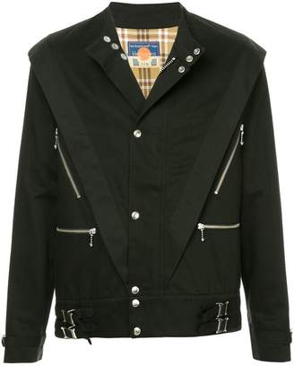 Blackmeans Black Means structured buckle jacket