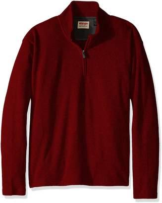 Wrangler Authentics Men's Big-Tall Sweater Fleece Quarter-Zip