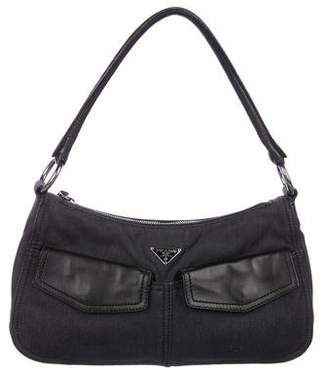 Prada Leather & Denim Shoulder Bag