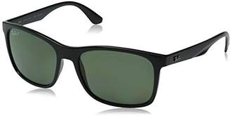 Ray-Ban INJECTED MAN SUNGLASS - Frame POLAR GREEN Lenses 57mm Polarized