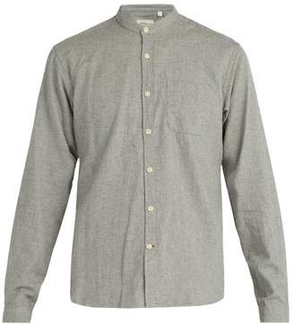 Oliver Spencer Collarless Cotton Shirt - Mens - Grey