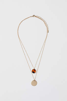 H&M Double-strand Necklace - Orange