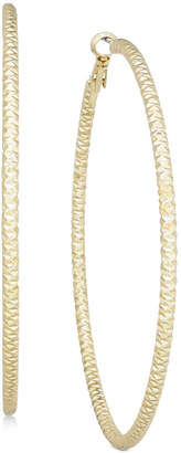 "Thalia Sodi Textured Extra Large 3"" Hoop Earrings, Created for Macy's"