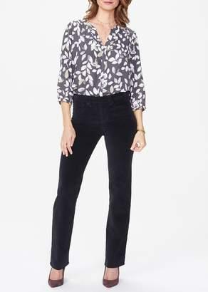 NYDJ Marilyn Velveteen Straight Leg Jeans (Petite)
