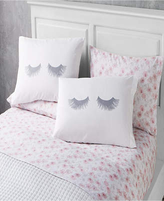 Sanders Lashes 6 Piece Full Size Microfiber Sheet Set With Novelty Pillowcases Bedding