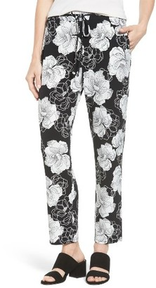Women's Chaus Peony Sketch Drawstring Pants $59 thestylecure.com