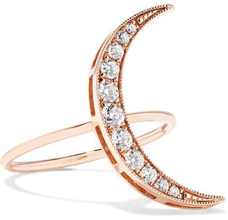 Andrea Fohrman Luna 18-karat Rose Gold Diamond Ring - 6