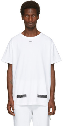 Off-White White Brushed T-Shirt $270 thestylecure.com