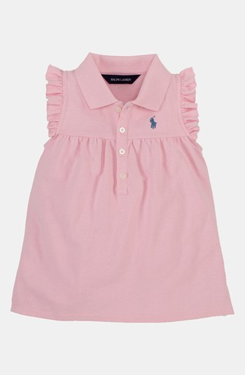 Ralph Lauren Ruffle Polo (Toddler Girls) Natural Pink 2T