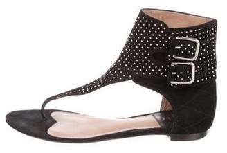 Laurence Dacade Embellished Suede Sandals