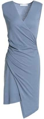 Kain Label Wrap-Effect Striped Stretch-Knit Mini Dress