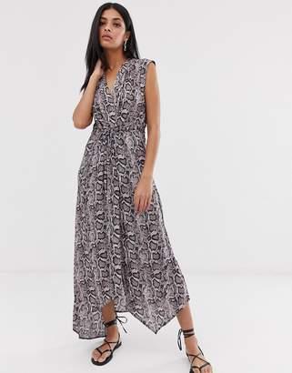 AllSaints tate misra snake print maxi dress