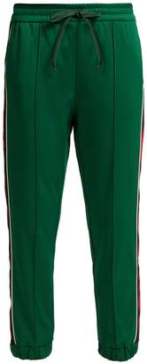 Gucci Side-stripe jersey track pants