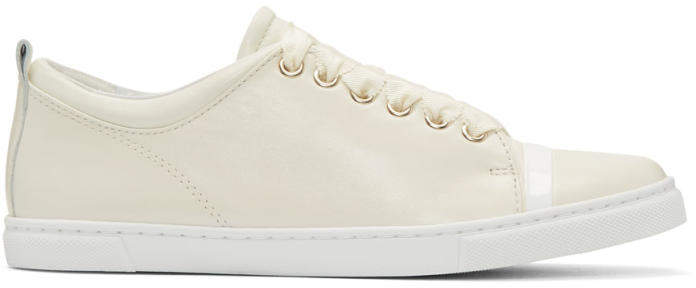 Lanvin Ivory Leather Sneakers