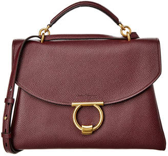 Salvatore Ferragamo Gancini Top Handle Leather Shoulder Bag