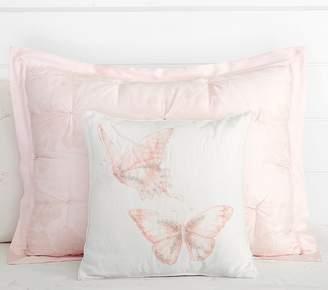 Pottery Barn Kids Monique Lhuillier Watercolor Butterfly Dec Pillow, Blush Pink
