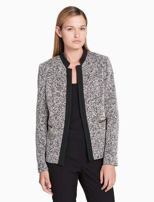 Calvin Klein tweed ponte knit jacket