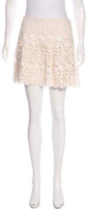 Alice + Olivia Lace Mini Skirt