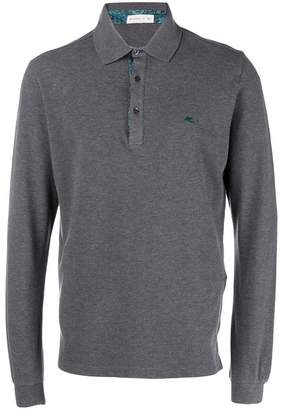 Etro long sleeved polo shirt