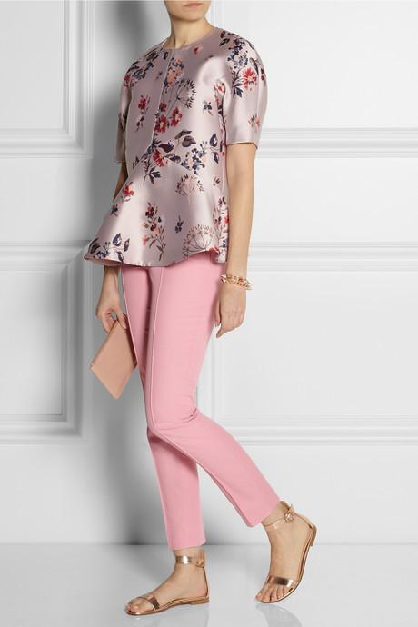 Moschino Cheap & Chic Moschino Cheap and Chic Cotton-blend piqué skinny pants
