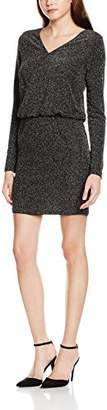 Vila CLOTHES Women's VILUOSQUARE L/S Dress Dress, Silver (Silver Colour), (Manufacturer Size: Small)