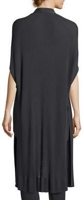 Eileen Fisher Long Sleek Tencel® Ribbed Kimono Cardigan, Plus Size