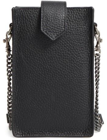 Botkier Leather Phone Crossbody Case - Black
