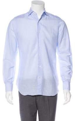 Isaia Linen Button-Up Shirt